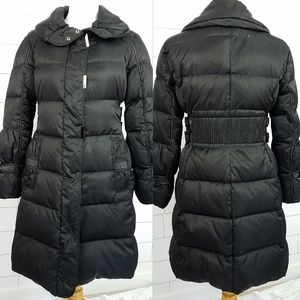Adrienne Vittadini Large Puffer Coat Long Black